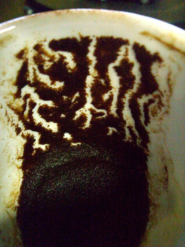 Wilson görünümlü ürkünç kahve telvesi.