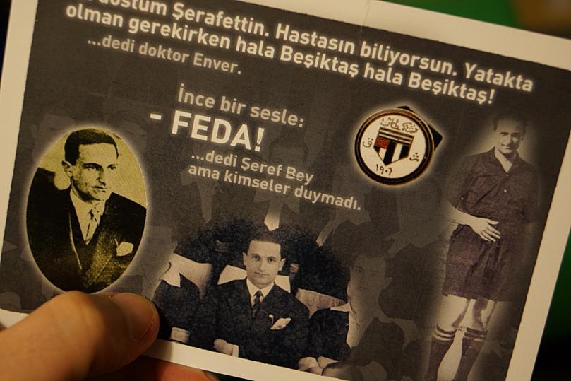 Bizim hayatımız FEDA be Beşiktaşım.